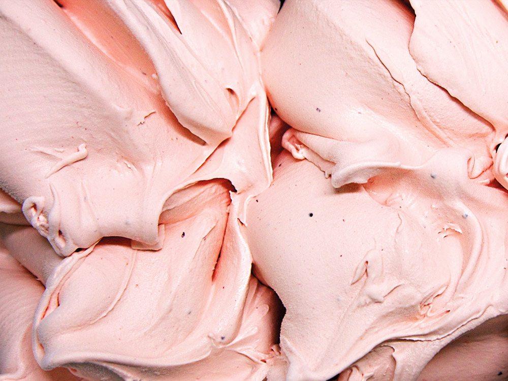 Freshly made strawberry gelato